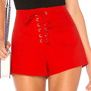 NWT by the way. CHIARA LACE UP TIE FRONT SHORT